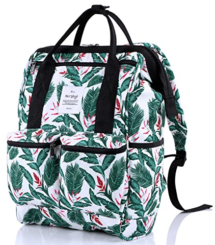 5ba9ba923 Amazon.com: DISA Chic Doctor Bag Style College Backpack Travel Daypack |  Tropical White: Shoes