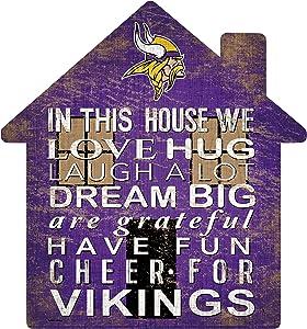 Fan Creations NFL Minnesota Vikings Unisex Minnesota Vikings House Sign, Team Color, 12 inch