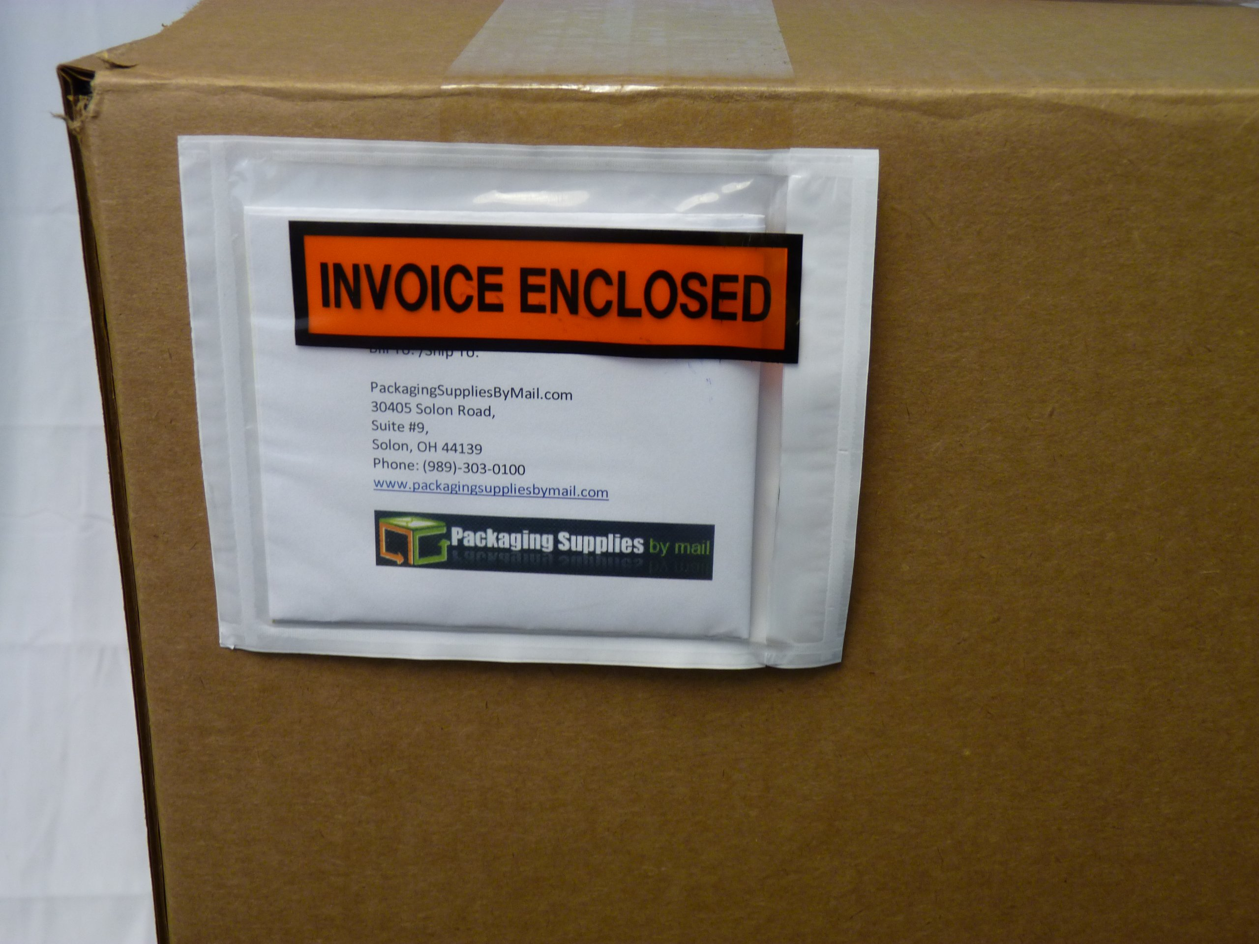 Invoice Enclosed Packing List Envelopes Panel Face Back Load 2.0 Mil Thick - 4.5'' X 5.5'' 1000 /Case