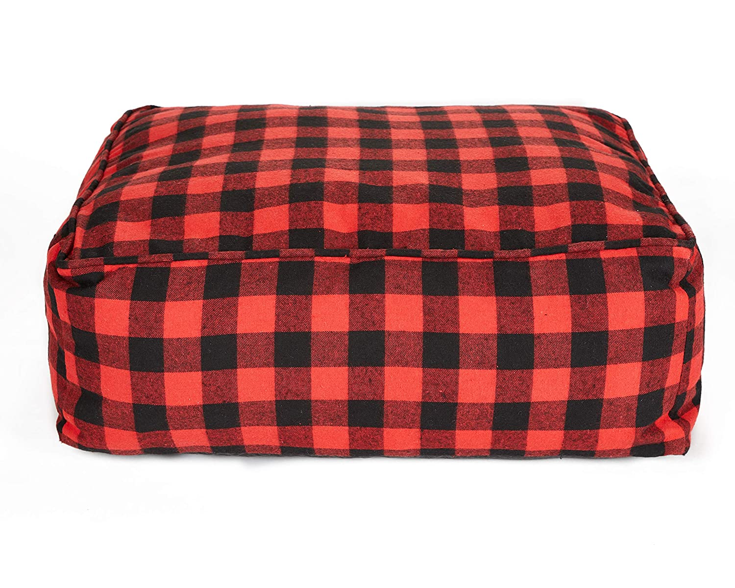 Hotel Doggy Crafted Cabin Cushion Dog Bed   Red Black Pet Bed