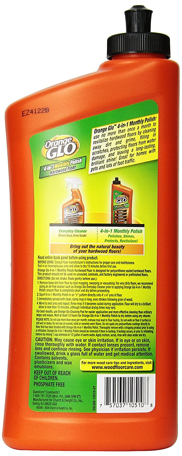 Amazon.com: Orange Glo Hardwood Floor 4-in-1 Monthly Polish, 24 Oz (Pack of  2): Health & Personal Care - Amazon.com: Orange Glo Hardwood Floor 4-in-1 Monthly Polish, 24 Oz
