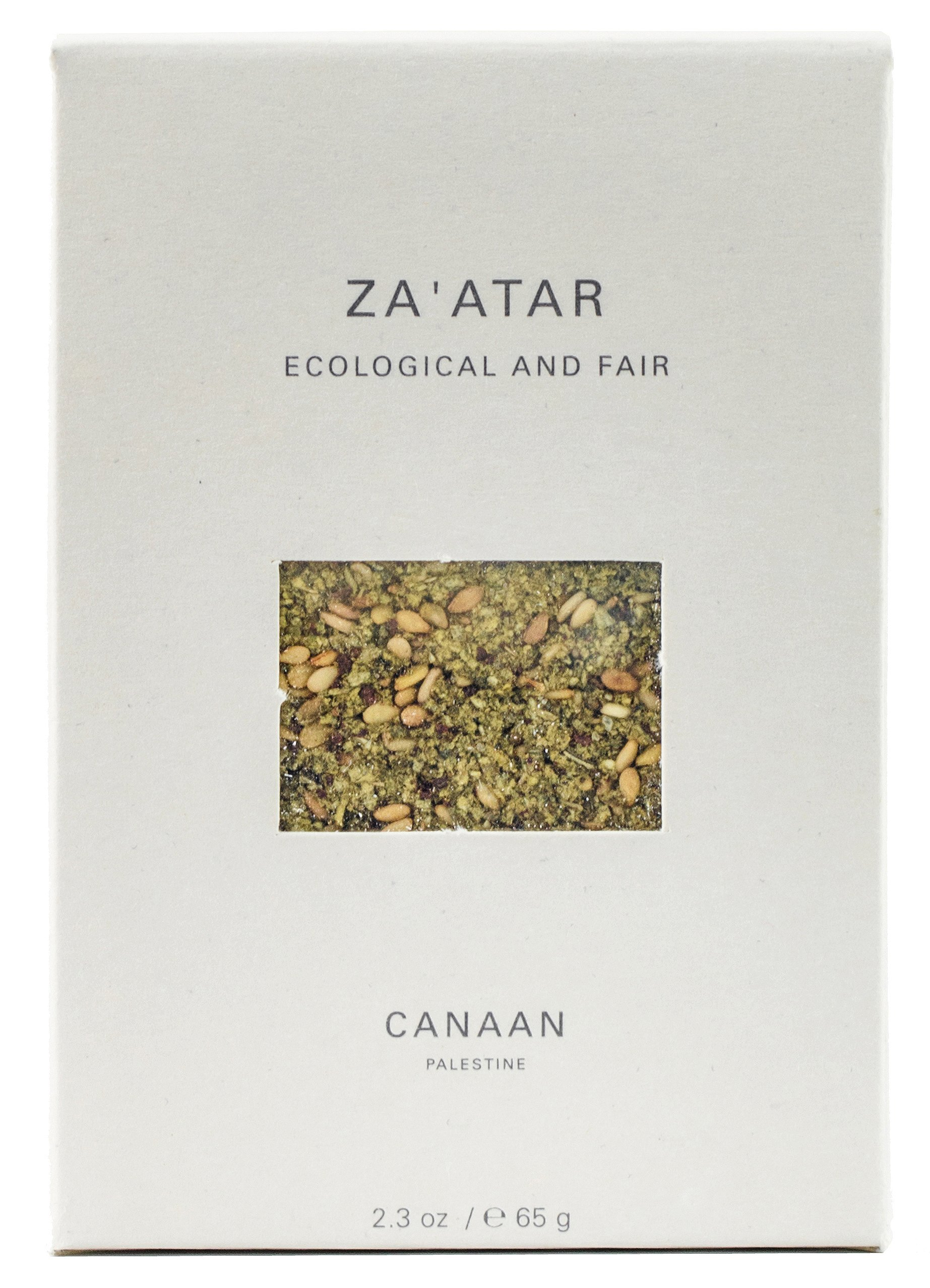Canaan Zaatar (Zahtar, Zatar) Signature Spice Blend of Palestine, Fair Trade Certified, 65 gram (Pack of 3) by Canaan