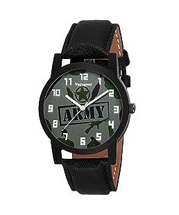 Voyageur Grey Dial Round Army Wrist Watch for Men's (AF-VOGR-09)