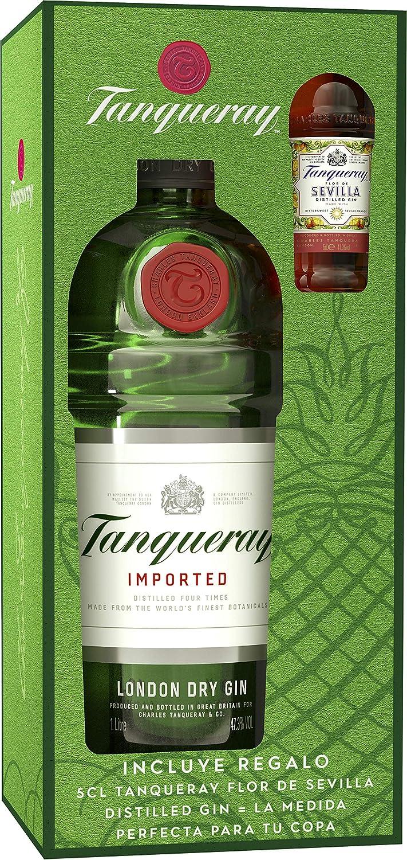 Tanqueray - London Dry Gin Ginebra inglesa, Pack con miniatura de ...