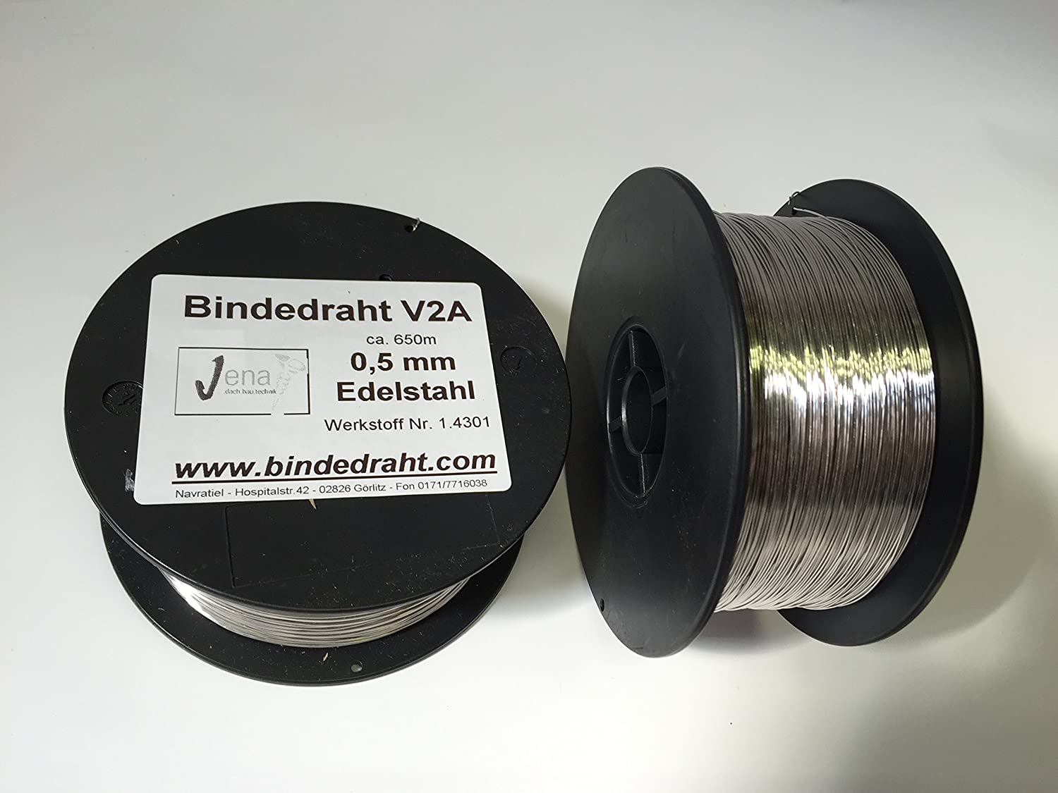 1 reel wire of stainless steel wire VA V2A 0.5 MM Approx. ,650 M ...
