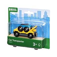 Brio World - 33577 - WAGON TRANSPORT DE VOITURE AVEC RAMPE