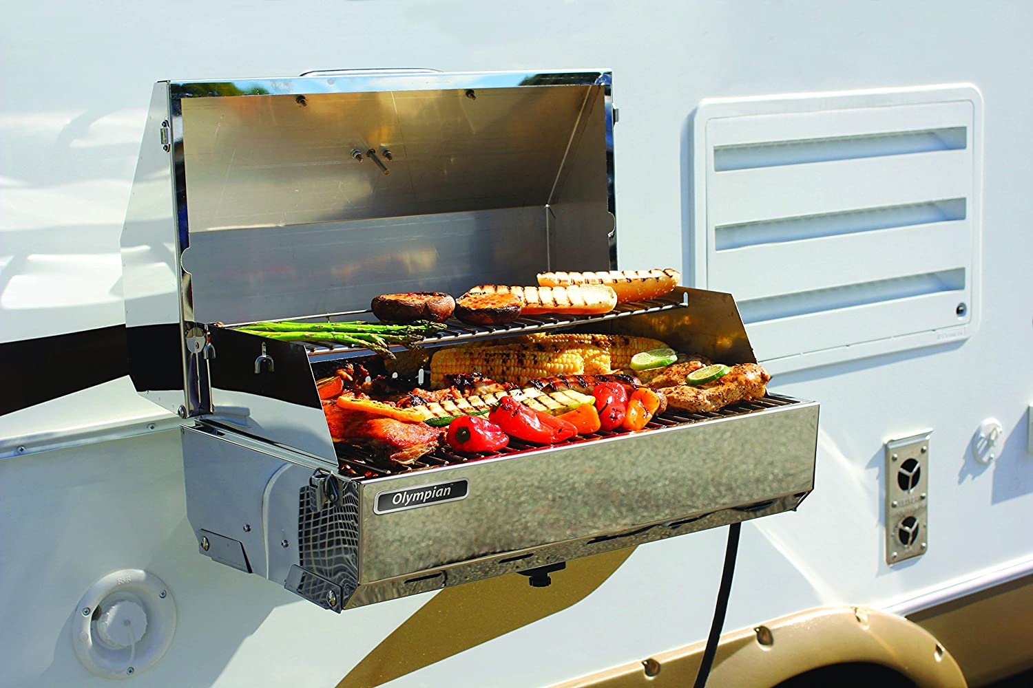 Camco 57305 Olympian 5500 Stainless Steel Portable//Rv Grill