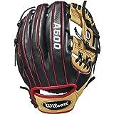 """Wilson 2018 A500 Gloves - Left Hand Throw Blonde/Black/Red, 11"""""""