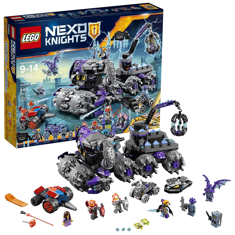 Lego Year 2017 Nexo Knights Series Set #70352 - JESTRO'S HEADQUARTERS with Macy's Underminer, Stone Wheeler Plus Jestro, Ava, Macy, Lance, Gargoyle and Stone Stomper Minifigures (Pieces: 840)