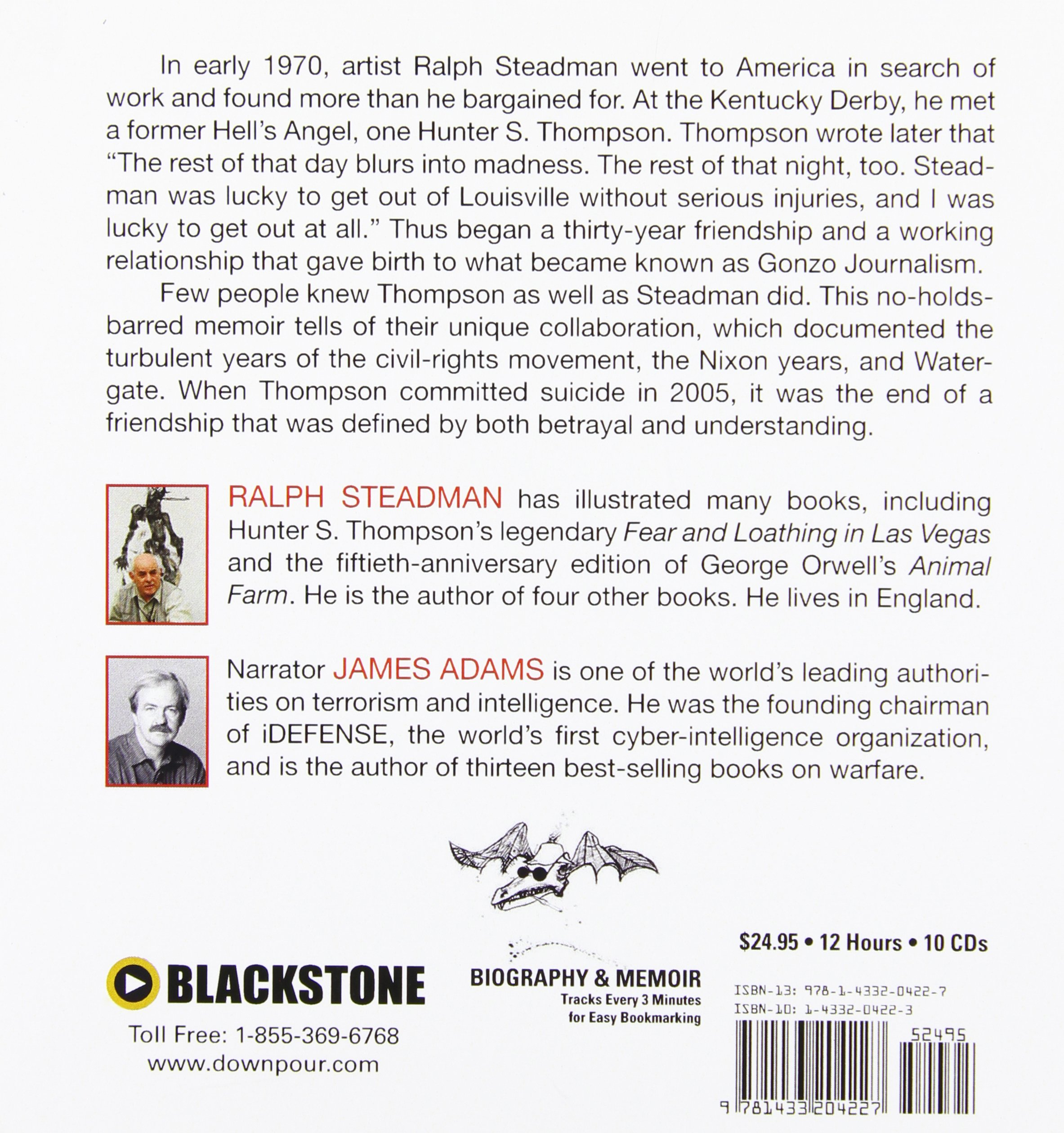 The Joke's Over: Ralph Steadman On Hunter S Thompson: Ralph Steadman, James  Adams: 9781433204227: Amazon: Books