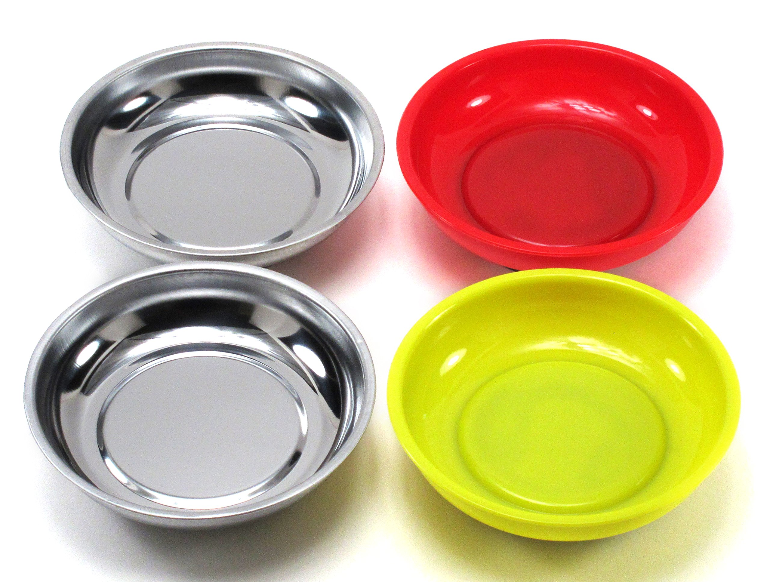 Elitexion Mechanic Workshop Magnetic Bowl Tray 4-inch (Pack of 4)