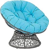 OSP Designs Papasan Metal & Wicker Lounge Chair
