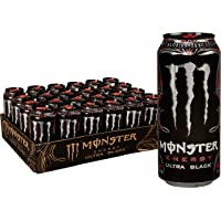 24-Pack Monster Energy Ultra Black 16 Fl Oz