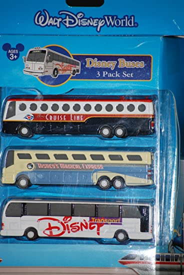 Amazoncom Disney Pack Diecast Buses Disneys Magical Express - Toy disney cruise ship