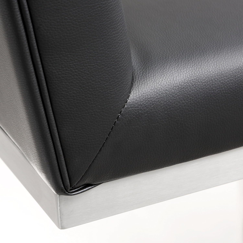 Set of 2 White TOV-K3640 Tov Furniture Helsinki Stainless Steel Counter Stool