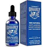 Gnarly Joe | Mens 100% Natural Anti Ageing Oil | Anti Wrinkle Face Moisturiser | Argan & Jojoba Oil | Ylang-Ylang & Lavender to Aid Relaxation (50ml)