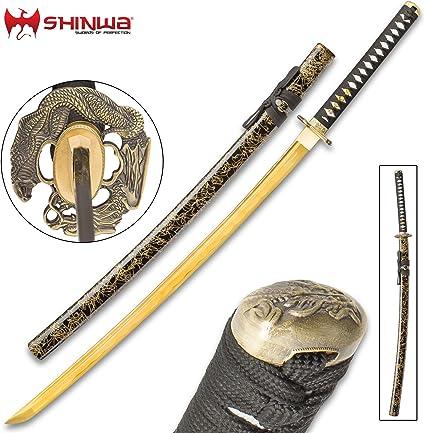 Wakizashi Espada de Entrenamiento Japonesa Hecha de Polipropileno con Tsuba 60 cm