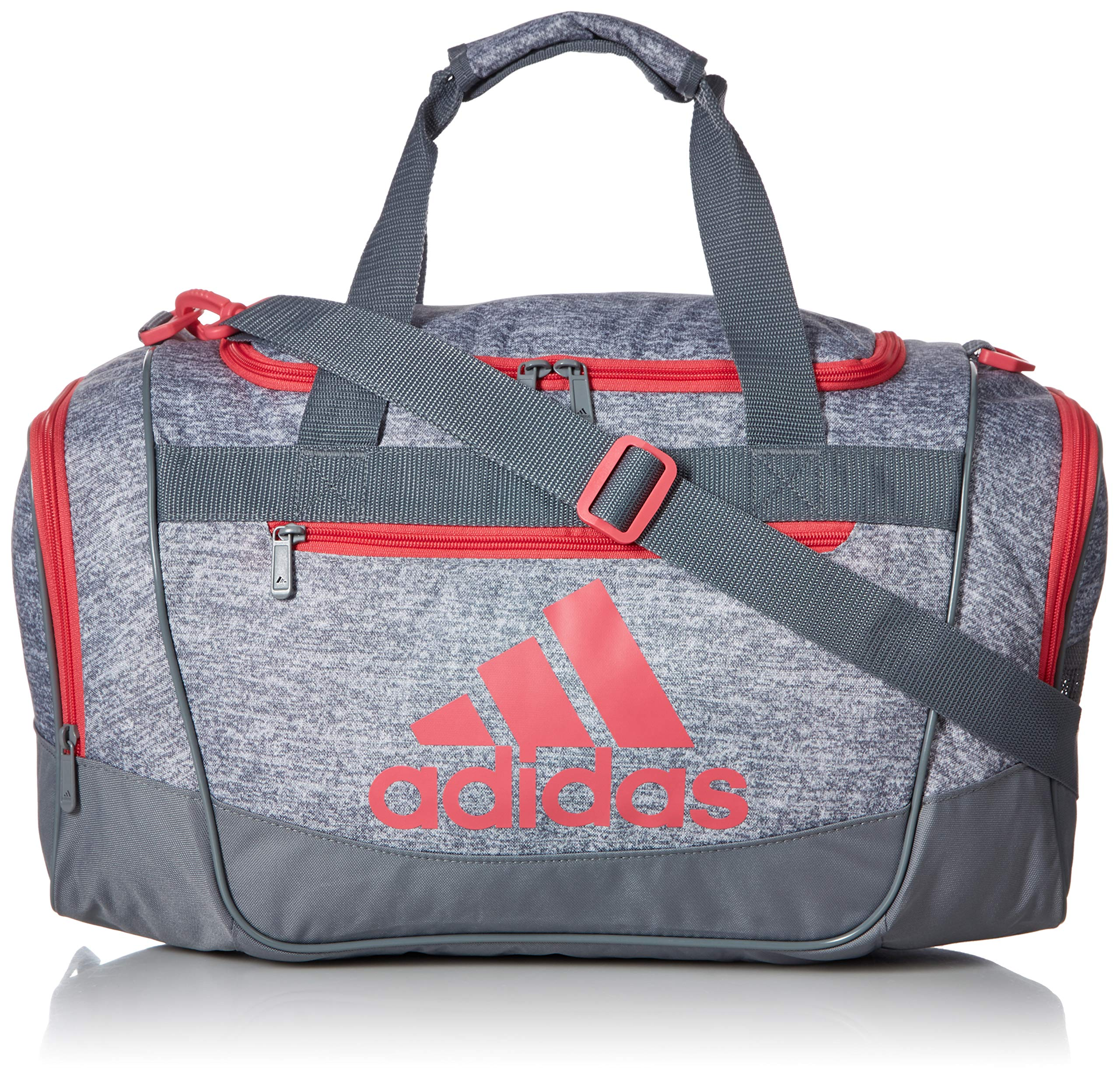 adidas Defender III Small Duffel, Grey Jersey/Grey/Real Pink, One Size