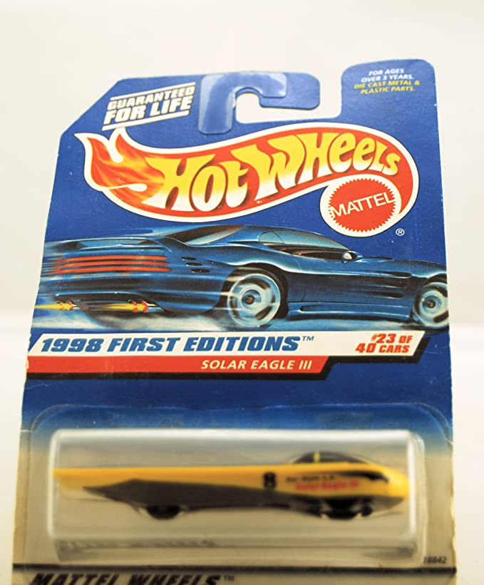 Amazon.com: Hot Wheels 1998 First Editions: Solar Eagle III (#23 of 40) 1:64 Scale Collector Car #650: Toys & Games