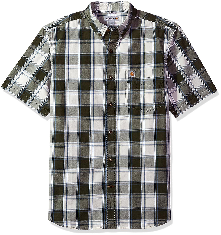 Carhartt Men's Big & Tall Essential Plaid Button Down Collar Ss Shirt