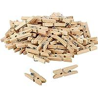 Itenga 80x pinzas decorativas de 2,5cm de madera