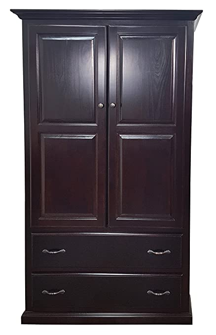 Merveilleux American Heartland Poplar Double Door Armoire W/Drawers In Green