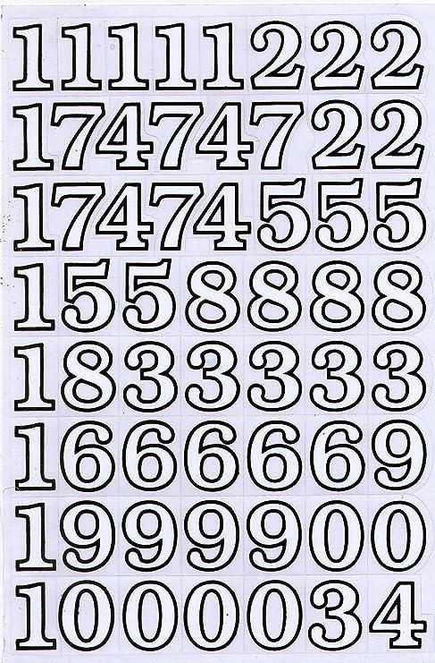 Lettere Numeri Adesivi In Bianco Ufficio Adesivi Cartelle Amazon