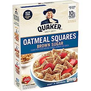 Quaker Oatmeal Squares Cereal, 14.5 Oz Box