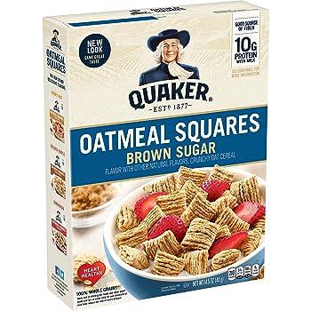 2. Quaker Oatmeal Squares Cereal (14.5 Oz)