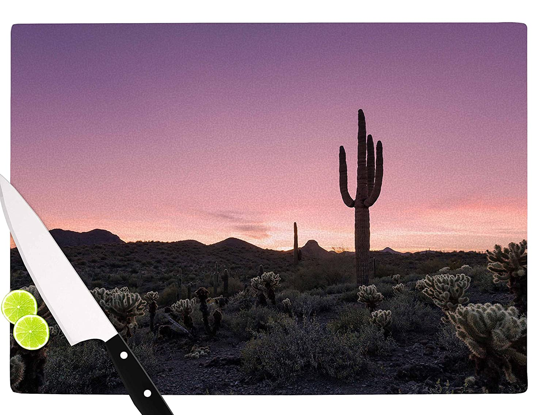 11.5 x 15.75 KESS InHouse OriginalTucson Sunset-Tags Cutting Board Multicolor
