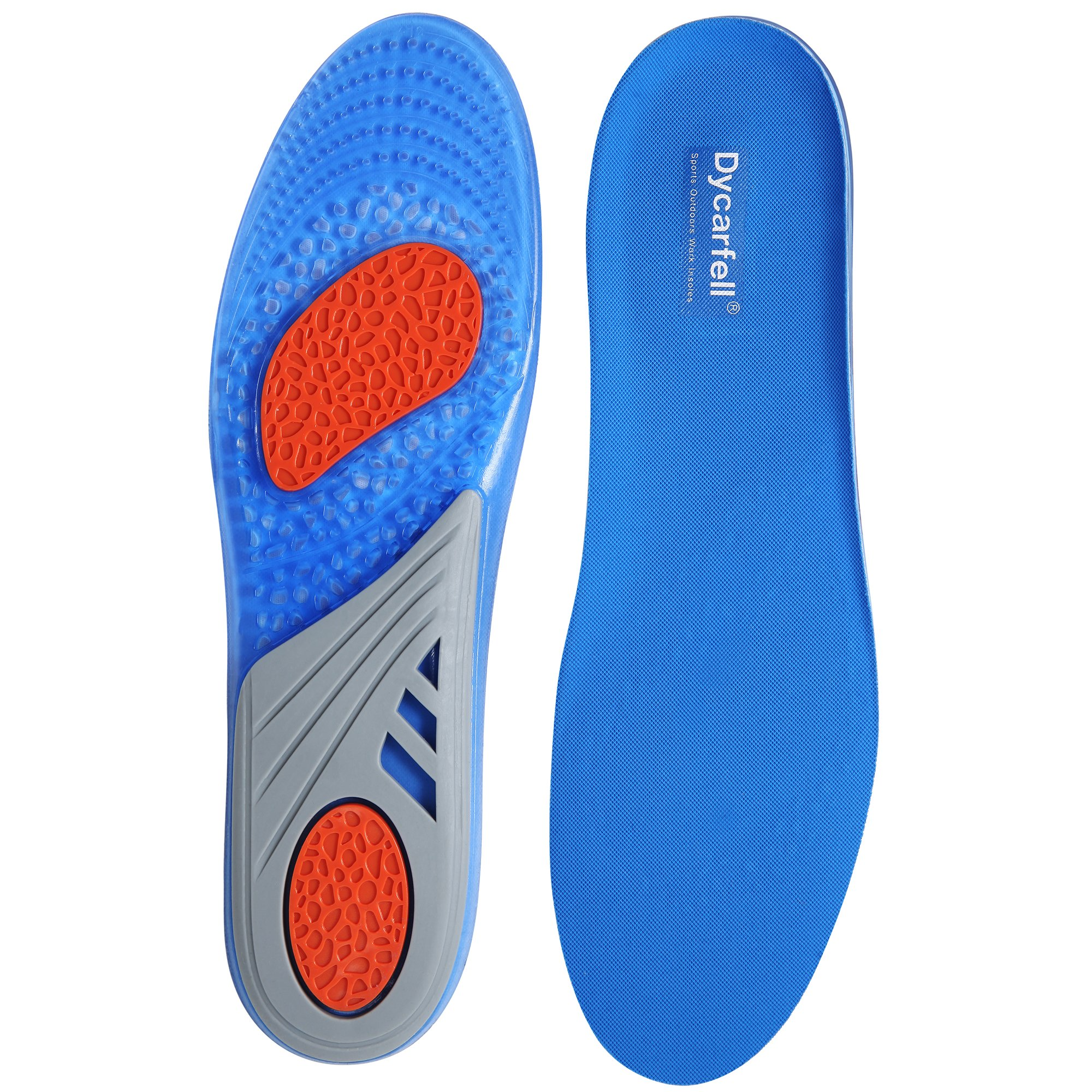 Gel Outdoors Work Shoe Insoles - Providing Excellent Shock Absorption and Cushioning, Best Insoles for Men and Women for Everyday Use, Men's 9-9.5 / Women's 10-10.5