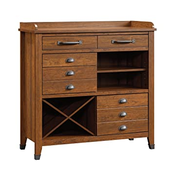 sauder carson forge sideboard washington cherry finish
