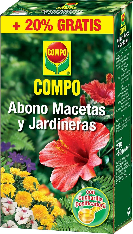 Compo Abono para macetas y jardineras, Granulado, Cuchara dosificadora, 300 g, 15.5x10.7x3.4 cm, 1359002011