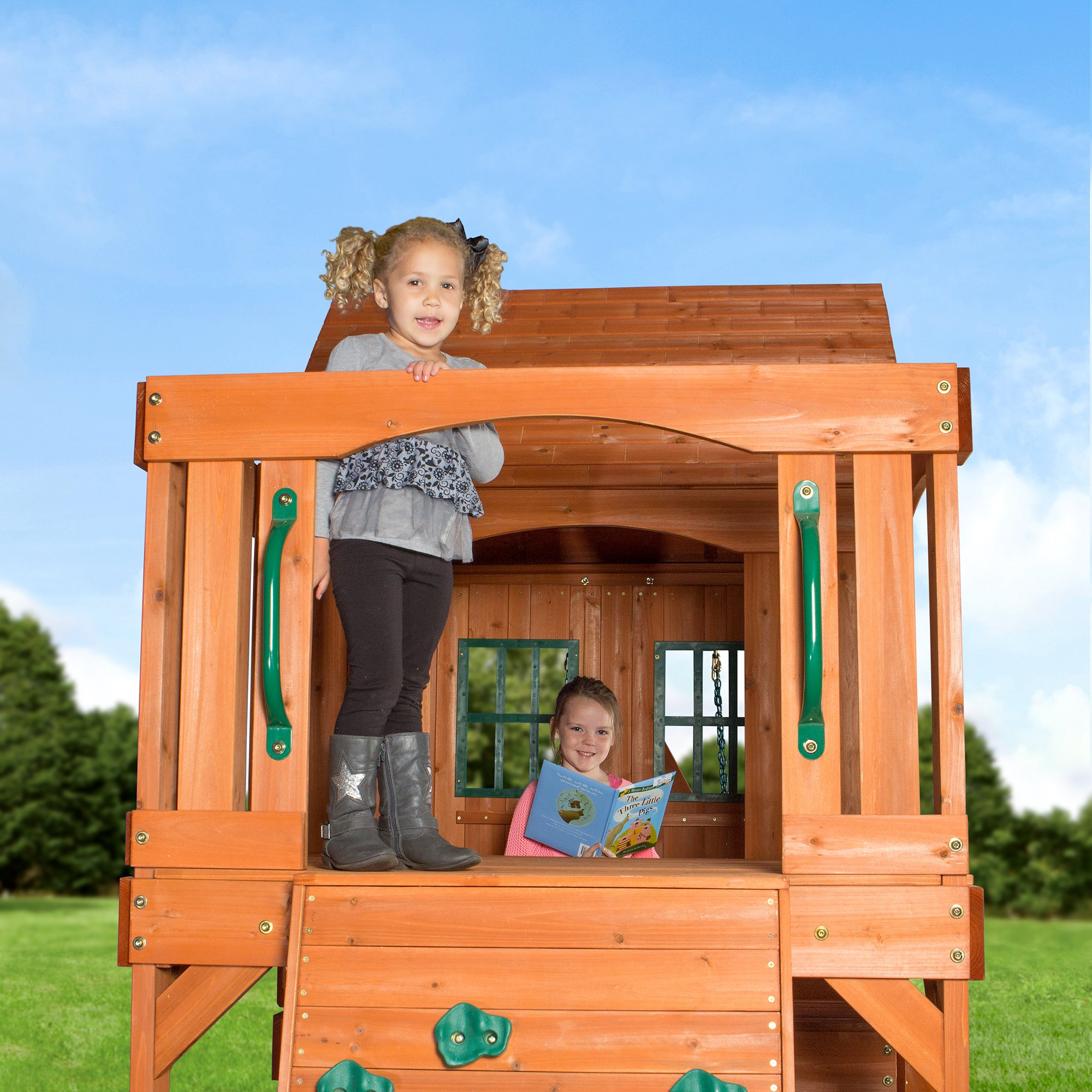 Backyard Discovery Pacific View All Cedar Wood Playset Swing Set by Backyard Discovery (Image #6)