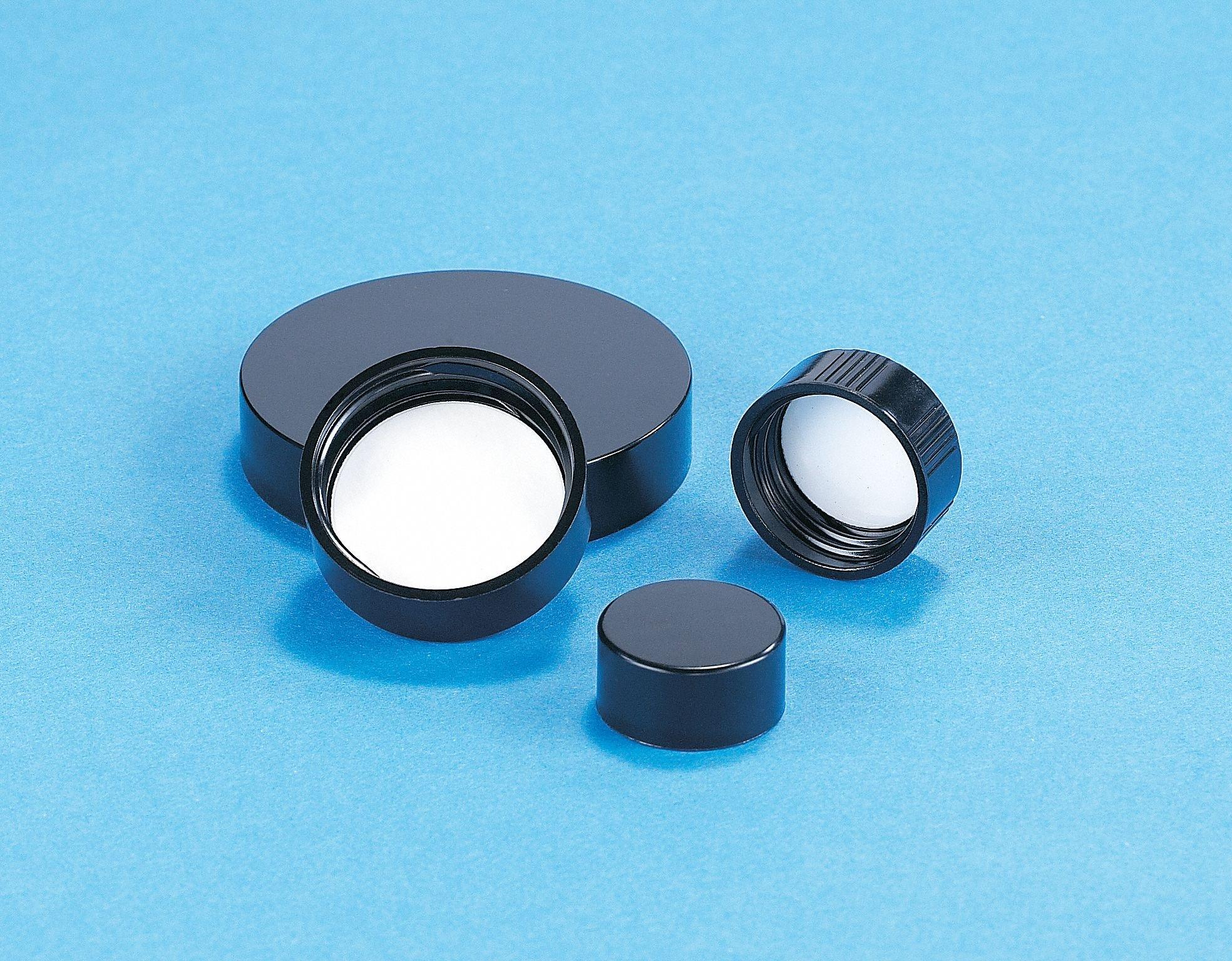 Phenolic Screw On Narrow-Mouth Phenolic Cap, Black, 144 PK