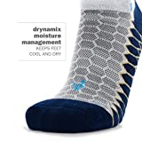 Balega Silver Antimicrobial No-Show Compression-Fit Running Socks for Men and Women (1-Pair), Midgrey/Aqua, Medium