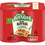 Chef Boyardee Ravioli, Beef, (4 Count, 15 Ounces Each)