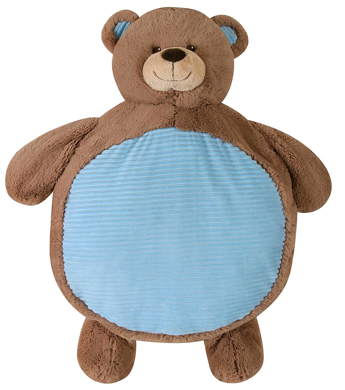 Stephan Baby Non Skid Plush Floor Playmat, Blue Bear