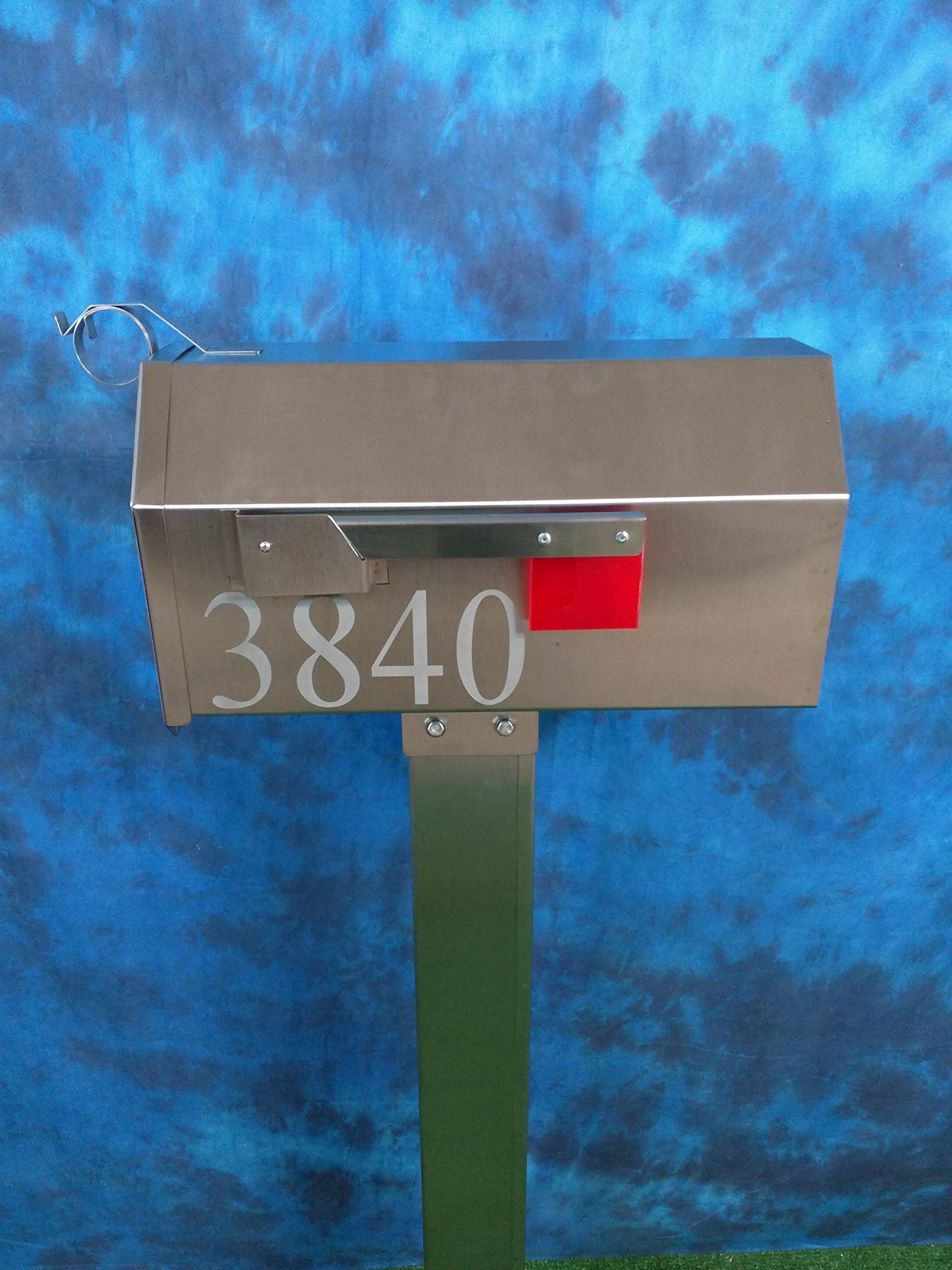 The Dutchbarn Handmade Stainless Steel Mailbox LARGE by Grandpas Stainless Workshop