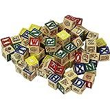 Tootsietoy Wood Alphabet Blocks - 72 Blocks