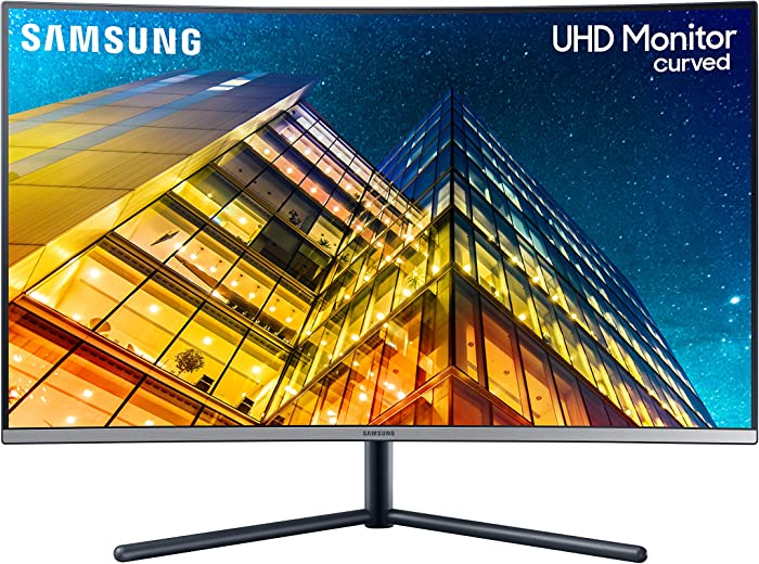 Samsung 32 inch UR590C Curved 4K Gaming Monitor (LU32R590CWNXZA) – UHD Gaming, widescreen, HDMI, VA, 4ms