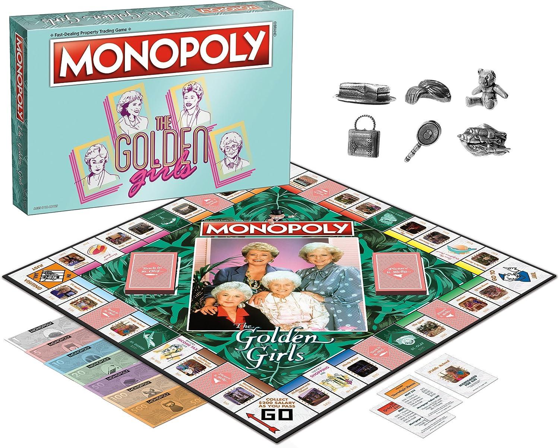 Amazon.com: The dorado Juego Monopoly Junta Niñas: Toys & Games