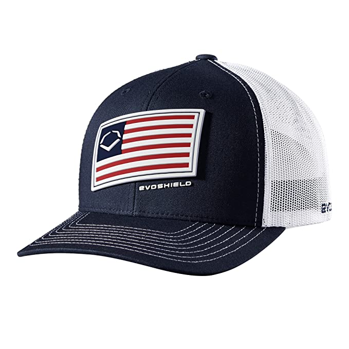 buy online f6df6 afc9d EvoShield Salute Snapback, Navy White, One Size