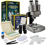 NATIONAL GEOGRAPHIC Microscope Science Kit - Dual LED Microscope for Kids, Ultra Bright 20x & 50x Magnification, 35…