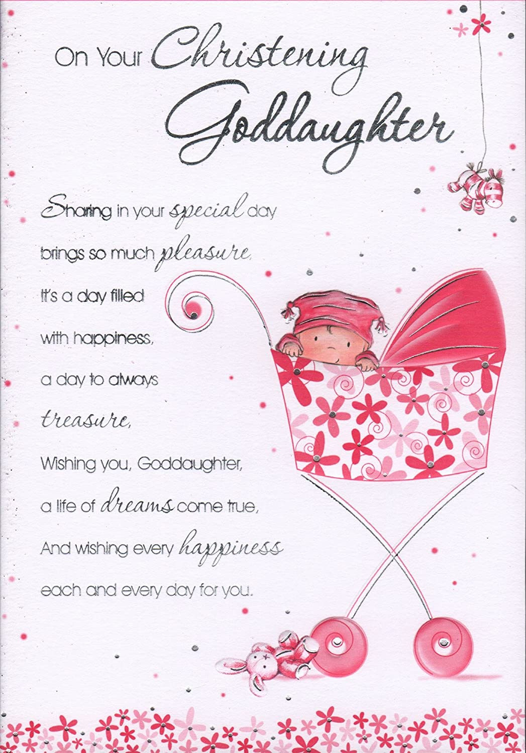 Goddaughter christening card on your christening goddaughter goddaughter christening card on your christening goddaughter free uk shipping amazon garden outdoors kristyandbryce Choice Image