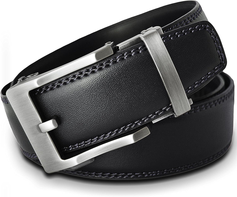 VinicioBelt Classic Antique Silver Buckle w// Automatic Ratchet Belt