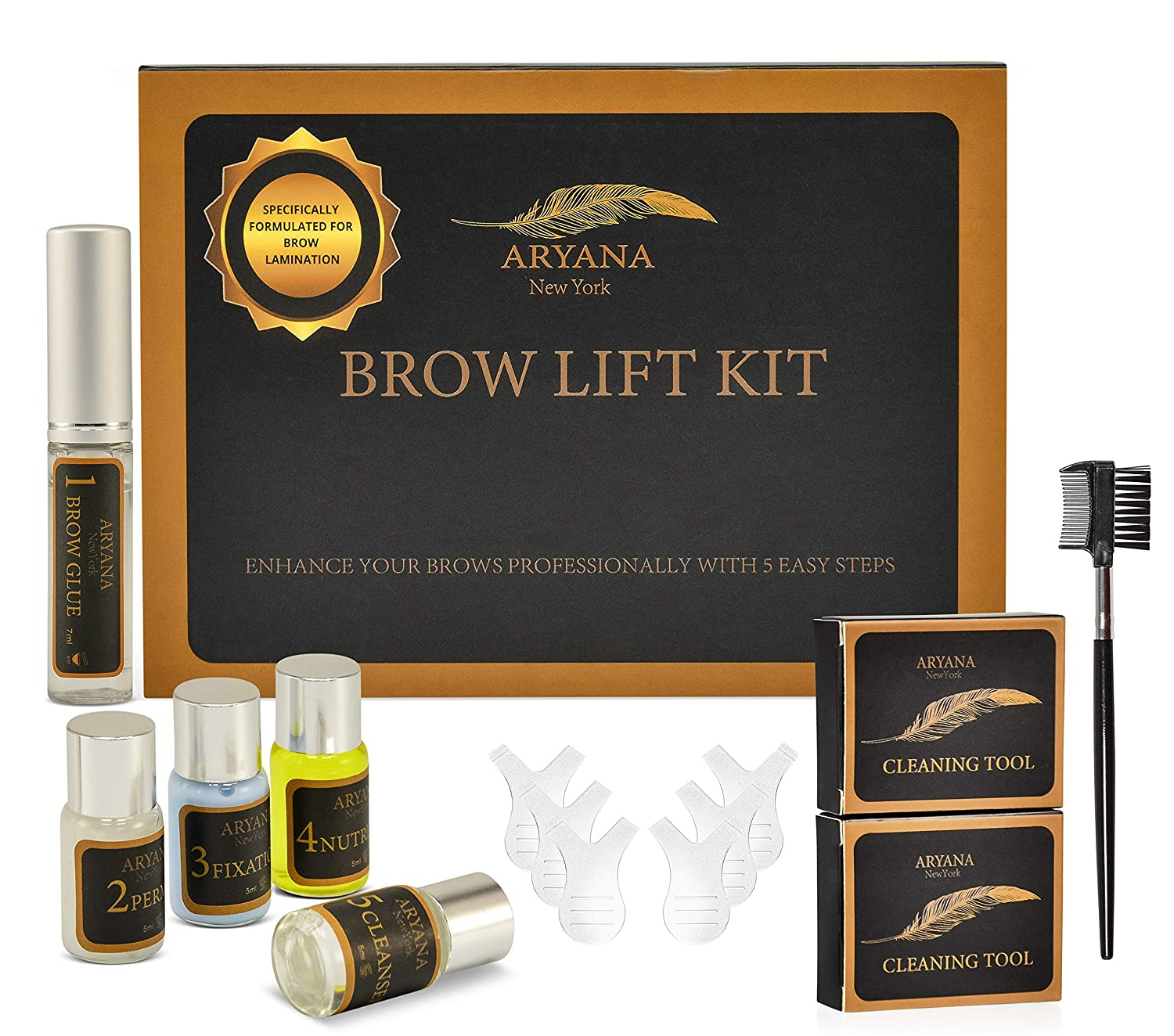 Brow Lift Kit, Brow Lamination, Brow Perm, Specifically Formulated for Brow Lamination, Natural Brow Botox