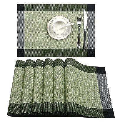 Amazon.com: UArtlines manteles individuales, tejido ...