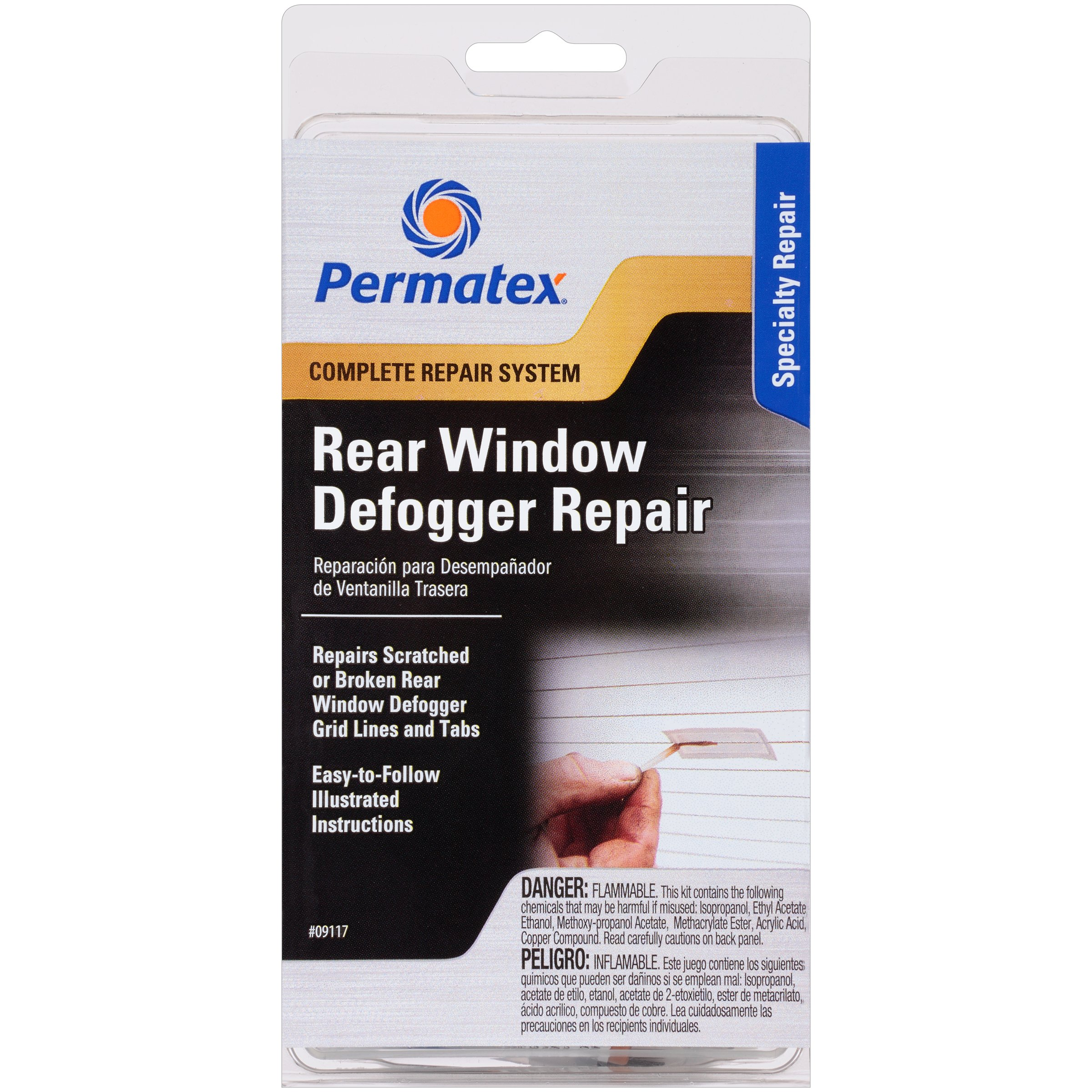 Permatex 09117 Complete Rear Window Defogger Repair Kit