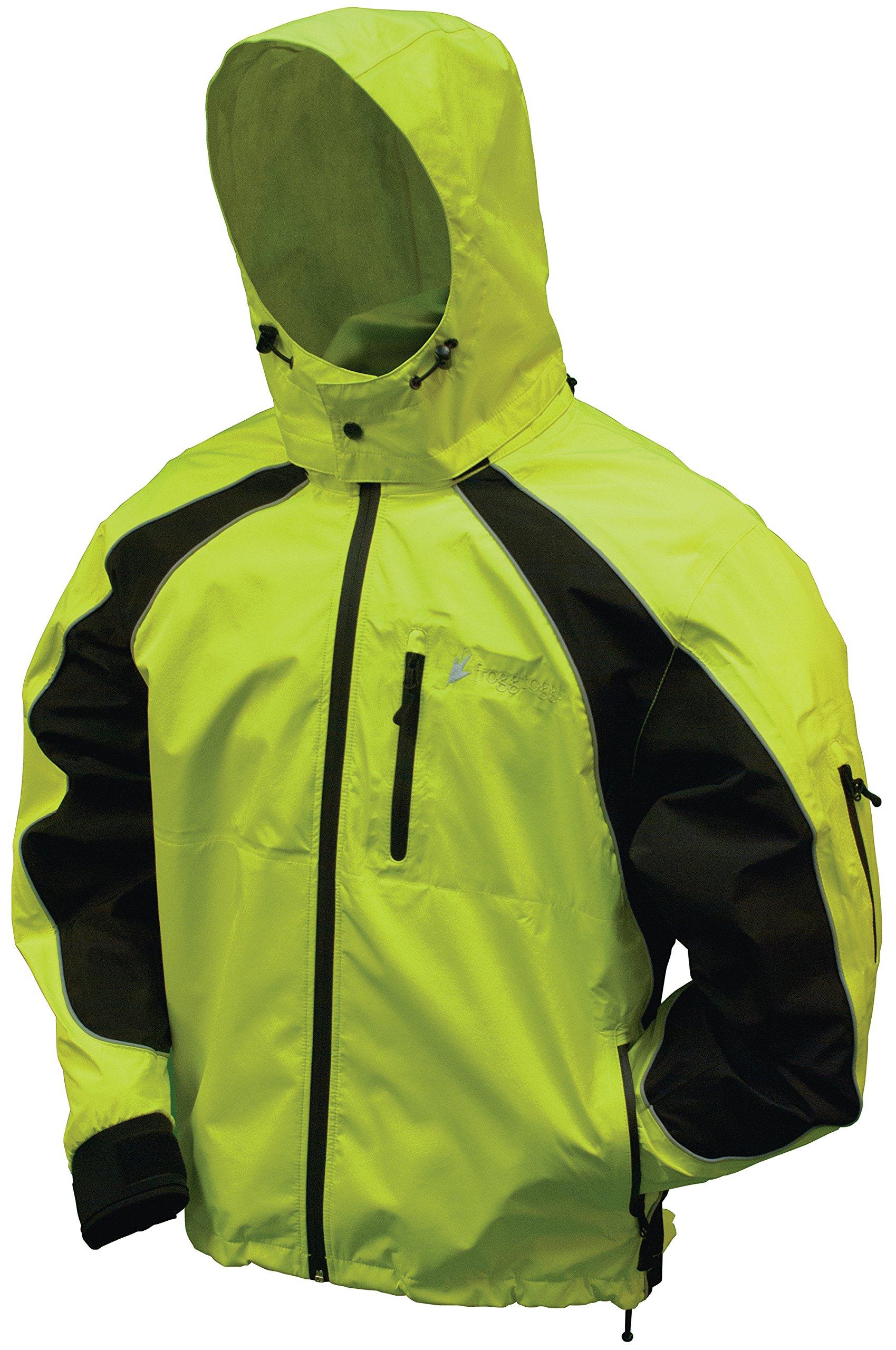 Frogg Toggs Toadz Kikker II Reflective Jacket, Hivis Green, Size XX-Large